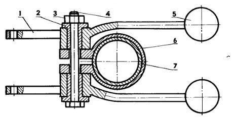 Крепление рукояток переключения передач и хода