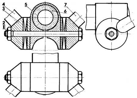 Схема крепления рукояток